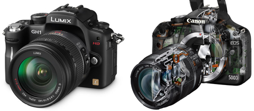 GH1 vs Canon 500d T1i